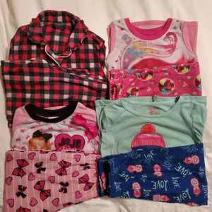 Four Cute Girls Kids Pajama Sets - Size 6 and More